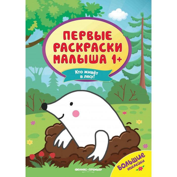 Фото - Раскраски Феникс с наклейками Кто живет в лесу шарикова развивающая книжка с наклейками кто в лесу живет