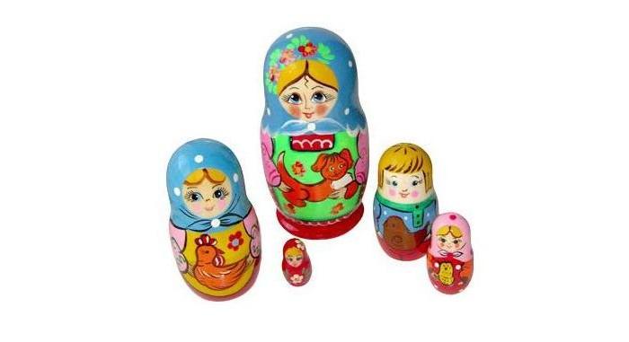 Деревянная игрушка Бэмби Матрешка Подворье