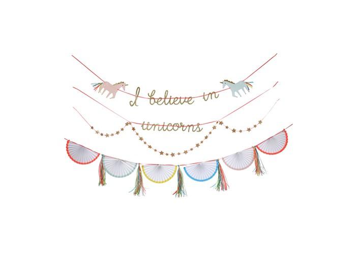 Фото - Товары для праздника MeriMeri Гирлянда Единороги товары для праздника merimeri гирлянда кисточки
