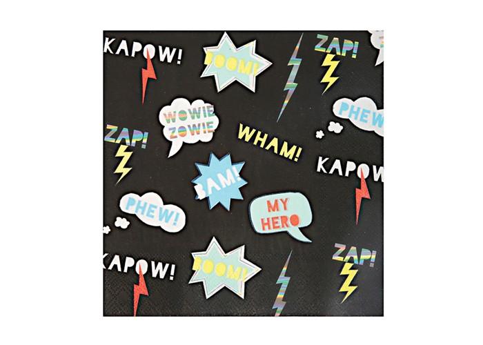 Товары для праздника MeriMeri Салфетки Супергерои 16.5x16.5 см салфетки бумажные world cart товары для дома белый