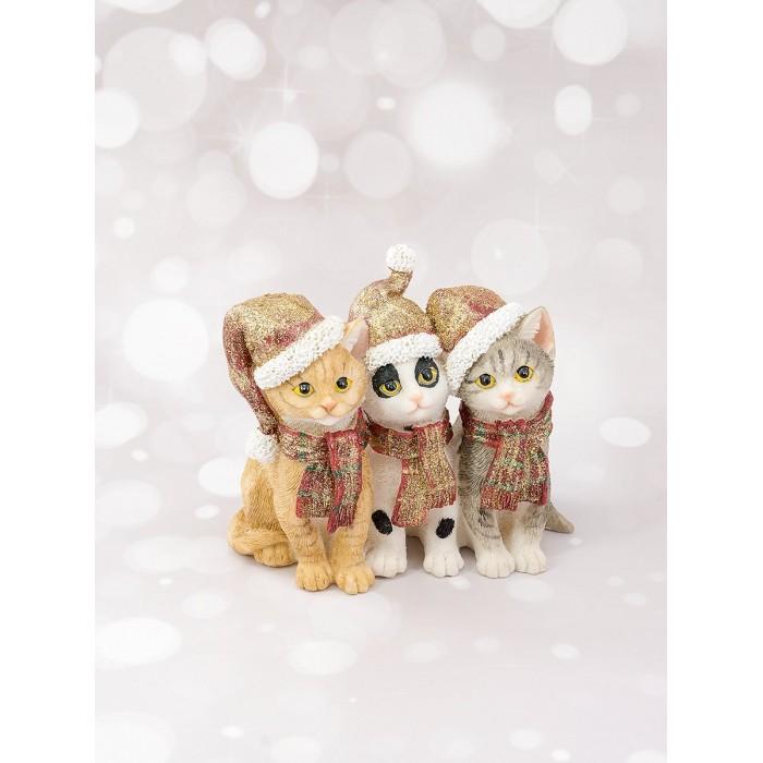 Игровые фигурки Joli Angel Фигурка декоративная Три котика статуэтки и фигурки monte christmas фигурка рони 5х7х8 см