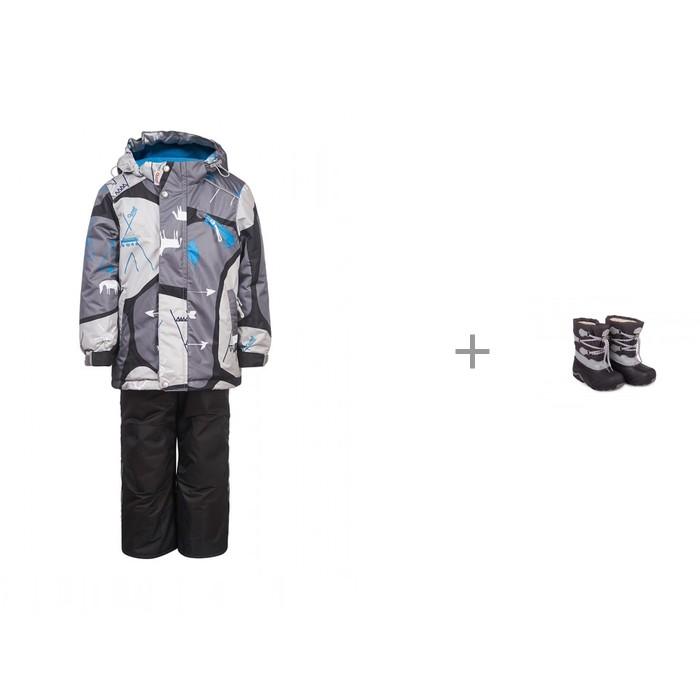 Купить Утеплённые комплекты, Oldos Active Костюм для мальчика Джун и Галоши детские Easy Go утепленные ГДУ010-030