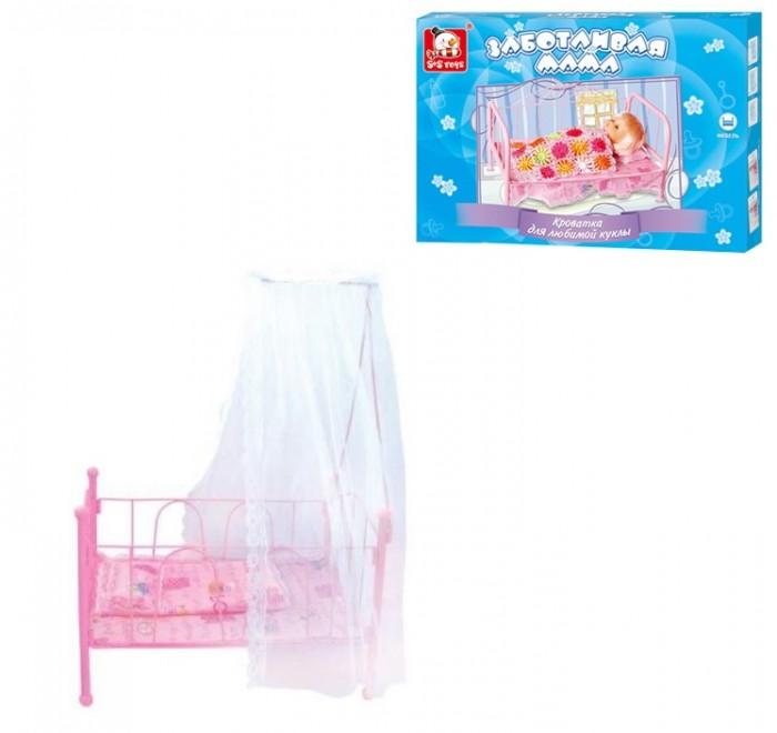 Кроватки для кукол China Bright Pacific Кроватка для кукол с матрасом и балдахином