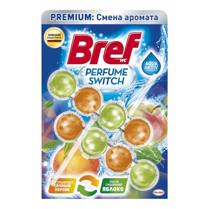 Бытовая химия Bref Чистящее средство для унитаза Перфюм Свитч Персик-яблоко 2х50 г недорого