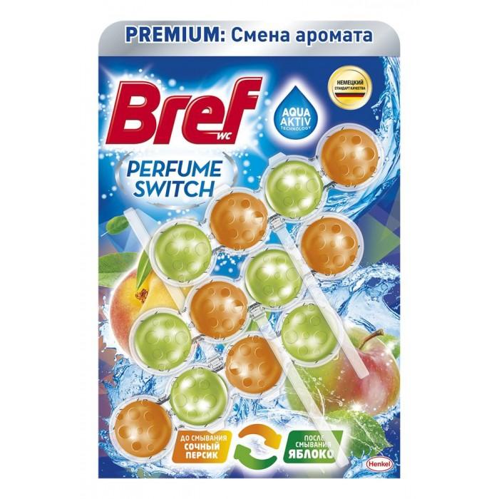Бытовая химия Bref Чистящее средство для унитаза Перфюм Свитч Персик-яблоко 3x50 г недорого