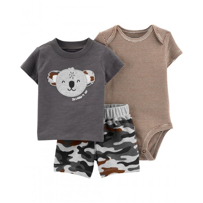 Купить Carter s Комплект для мальчика (футболка, боди, шорты) 1H351210 в интернет магазине. Цены, фото, описания, характеристики, отзывы, обзоры