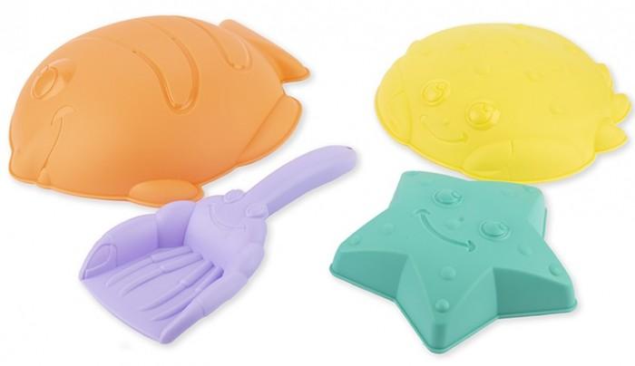Игрушки в песочницу Maxitoys Набор для песочницы: лопатка и 3 формочки karolina toys набор для песочницы замок 3 предмета