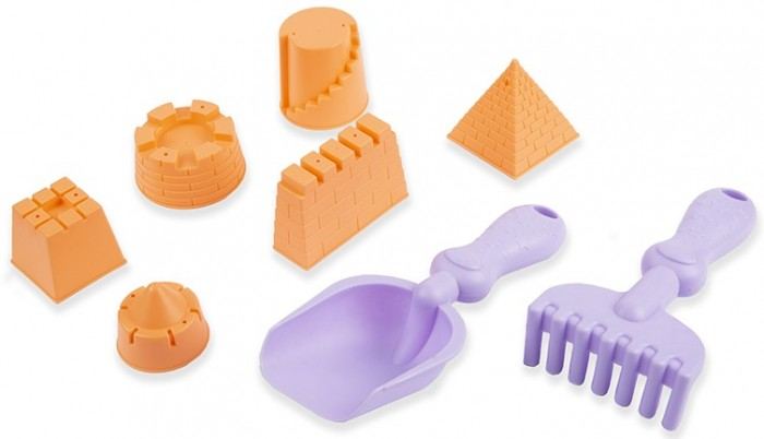 Фото - Игрушки в песочницу Maxitoys Набор для песочницы: лопатка, грабельки и 5 формочек полесье набор игрушек для песочницы 468 цвет в ассортименте