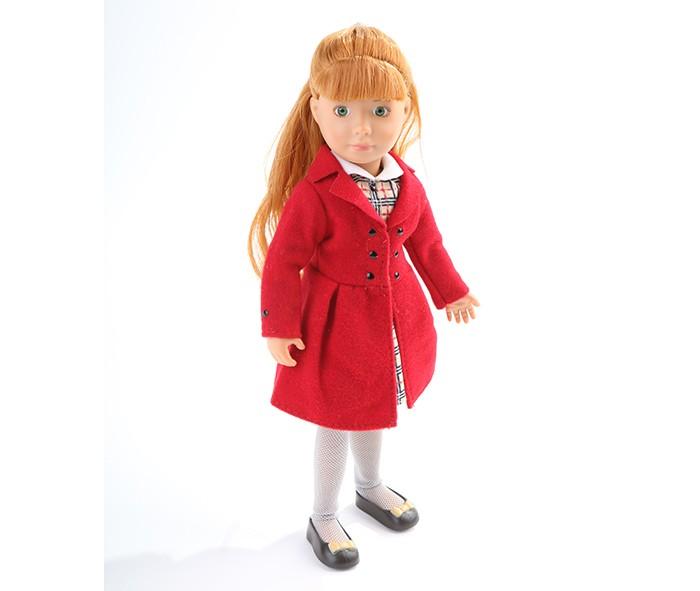 Куклы и одежда для кукол Kruselings Кукла Хлоя в красном пальто 23 см
