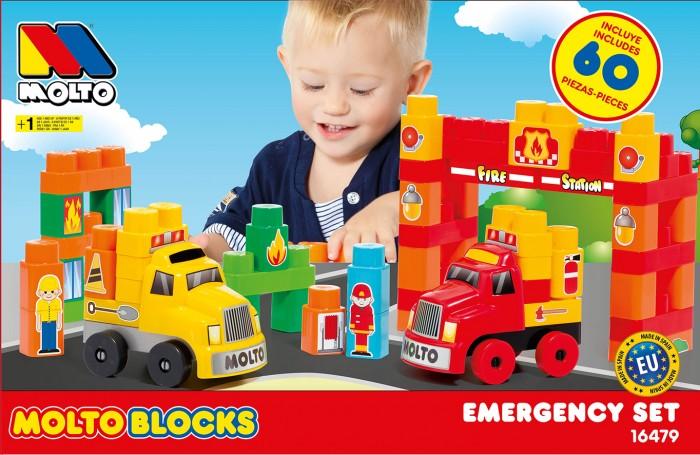 Купить Конструкторы, Конструктор Molto Blocks Грузовые машинки (60 деталей)