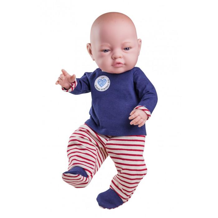 Paola Reina Кукла Бэби мальчик в красных ползунках 45 см фото