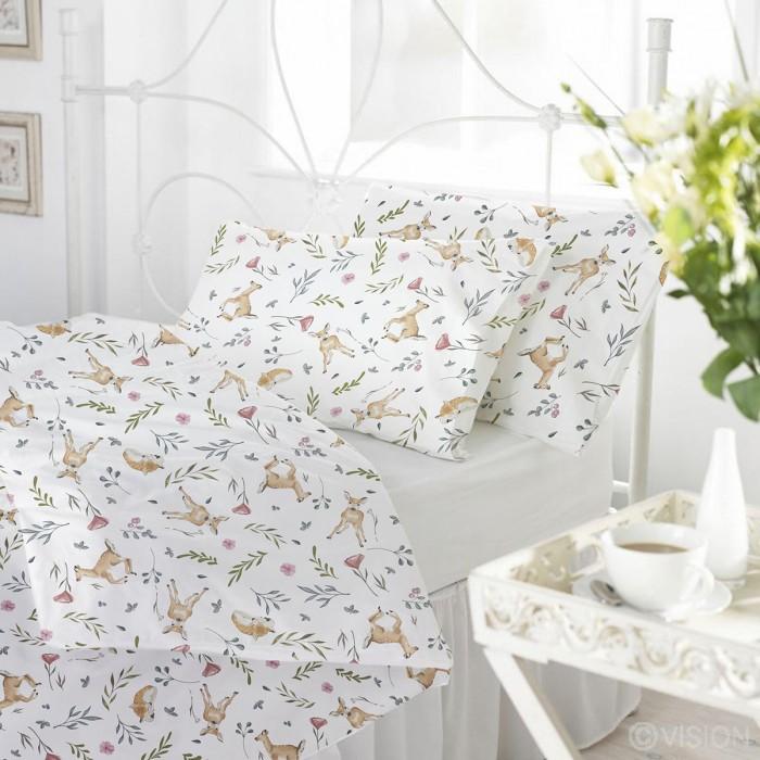цена на Постельное белье Baby Nice (ОТК) Оленята 1.5-спальное (3 предмета)