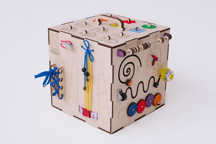 Картинка для Деревянная игрушка Бизикуб Транспорт и геометрические фигуры с розеткой