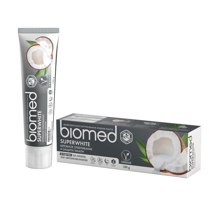 Гигиена полости рта Biomed Зубная паста Superwhite 100 мл biomed зубная паста sensitive сенситив 100 г