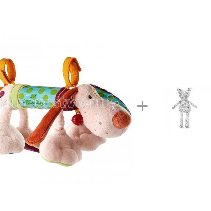 Купить Подвесные игрушки, Подвесная игрушка Lilliputiens Собачка Джеф и Elodie Details Игрушка Котик - Dots of Fauna 41 см