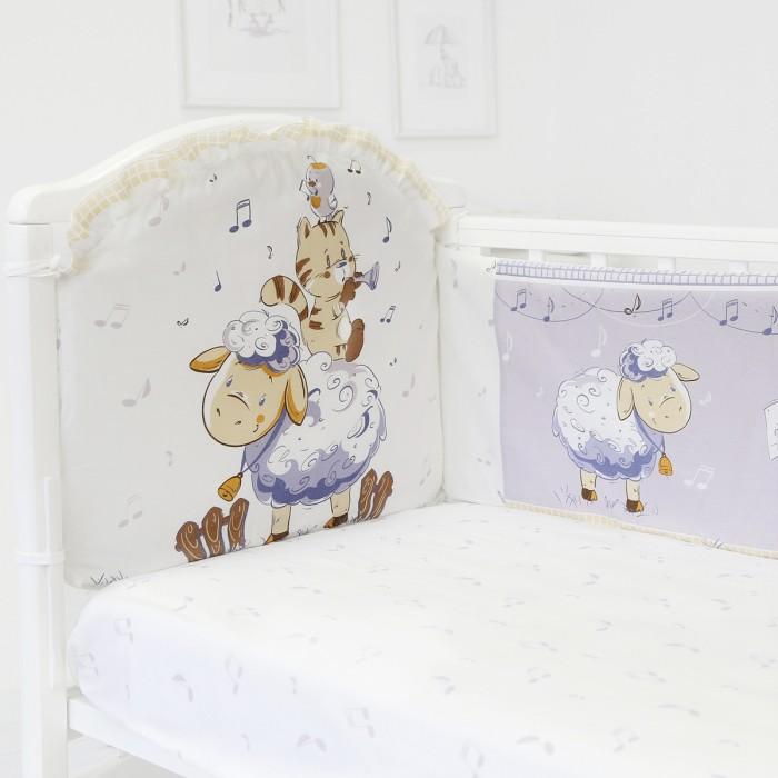 Бортики в кроватку Baby Nice (ОТК) Овечка (бампер)