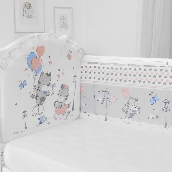 Бортики в кроватку Baby Nice (ОТК) Сердечки (бампер)