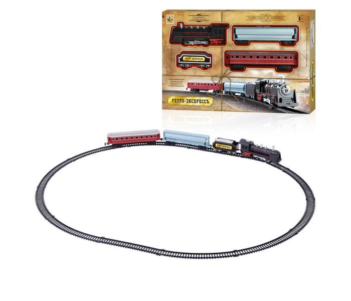 Железные дороги 1 Toy Железная дорога Ретро Экспресс паровоз 3 вагона (16 деталей)