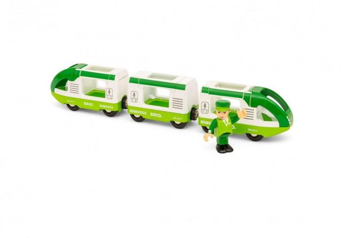 Купить Железные дороги, Brio Игровой набор Зеленый поезд с 3 вагонами и машинистом