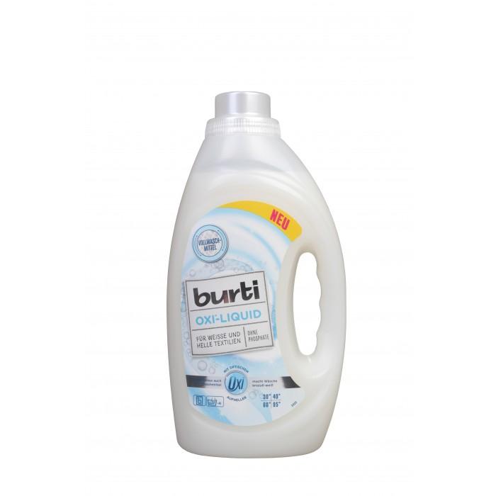 Бытовая химия Burti OXI Средство синтетическое жидкое для стирки белого и светлого белья 1,45 л