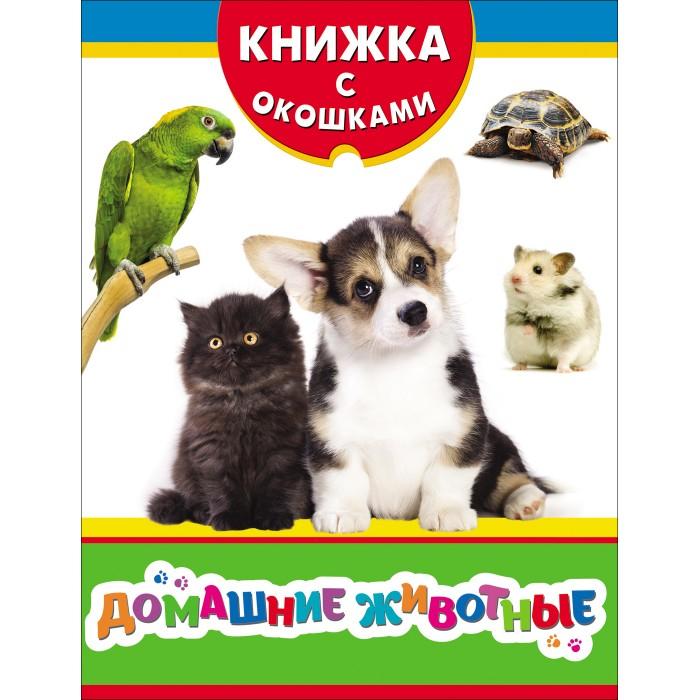 Книжки-игрушки Росмэн Книжка с окошками Домашние животные 31203 животные 32 окошка