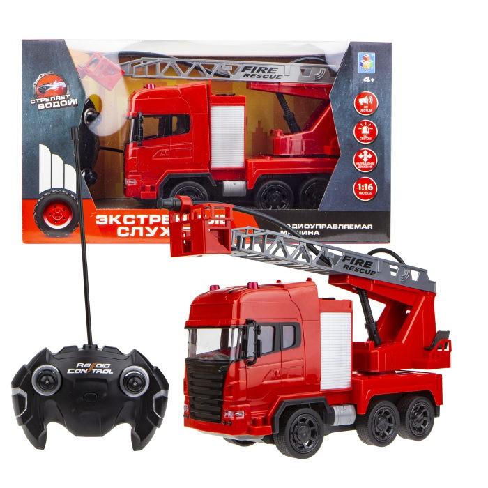 Купить Радиоуправляемые игрушки, 1 Toy Экстренные службы пожарная машина на радиоуправлении 45 см
