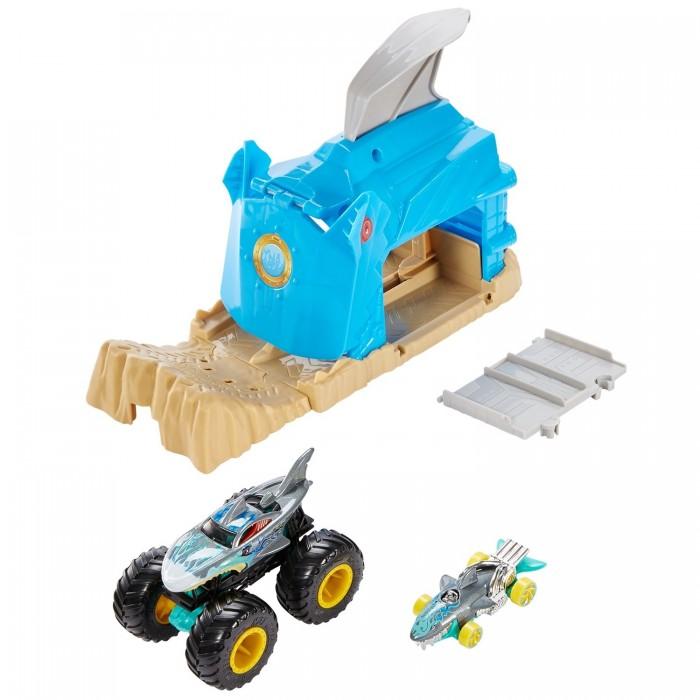 Картинка для Машины Hot Wheels Набор игровой Монстр-Трак Пусковой гараж
