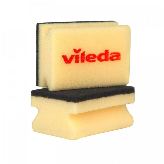 губка для мытья посуды vileda inox металлическая 2 шт Хозяйственные товары Vileda Губка для кастрюль Глитци 2 шт.