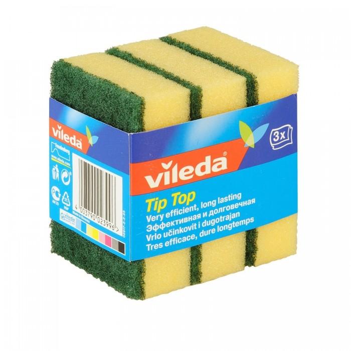 губка металлическая фэйт корнет 3 цвет серый 3 шт Хозяйственные товары Vileda Губка классическая Тип-Топ 3 шт.