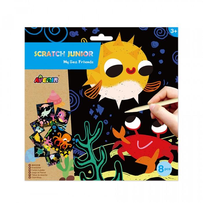 Гравюры Avenir Цветная гравюра для малышей Морские животные