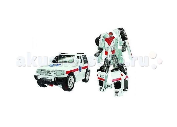 Роботы Happy Well Трансформер-машина Робот Спасатель робот трансформер mengbadi 106 blue