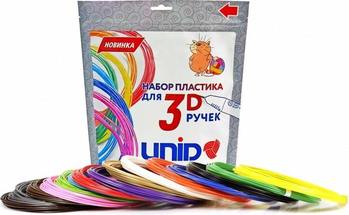 Наборы для творчества Unid Комплект пластика ABS для 3Д ручек (15 цветов)