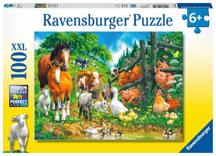 Купить Пазлы, Ravensburger Пазл Встреча животных 100 элементов