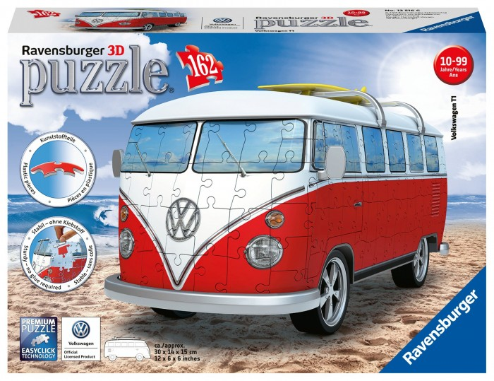 Купить Пазлы, Ravensburger 3D Пазл VW Bus T1 162 элемента
