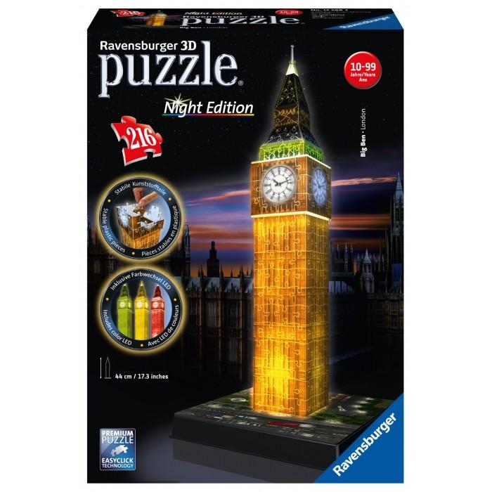 Пазлы Ravensburger 3D Пазл Ночной Биг-Бен 216 элементов пазлы рыжий кот пазл утренний биг бен в лондоне 2000 элементов
