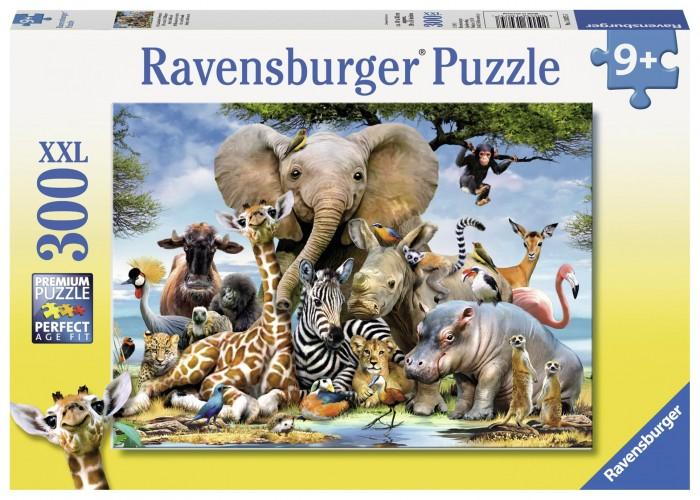 Пазлы Ravensburger Пазл XXL Африканские друзья 300 элементов