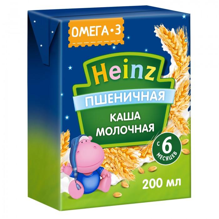 Каши Heinz Готовая молочная пшеничная каша с Омега 3 с 6 мес. 200 мл