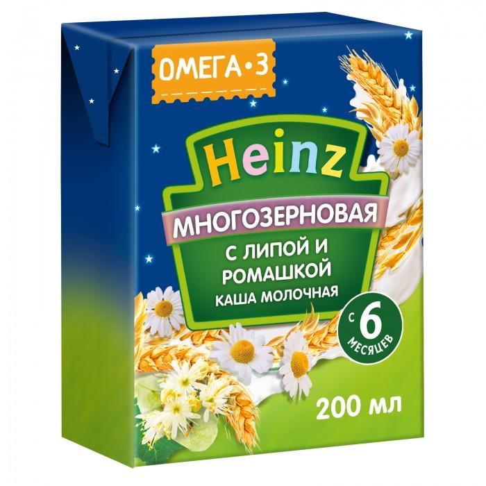 Купить Heinz Готовая молочная многозерновая каша с липой и ромашкой с Омега 3 с 6 мес. 200 мл в интернет магазине. Цены, фото, описания, характеристики, отзывы, обзоры