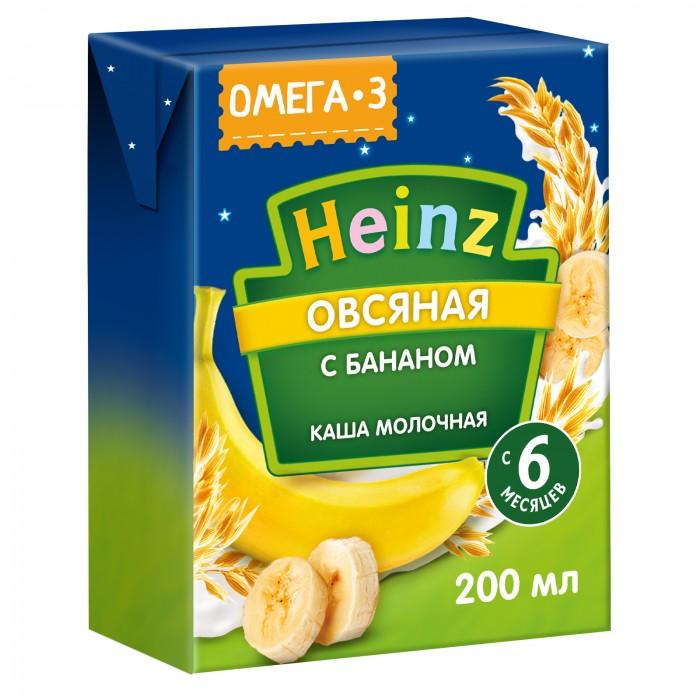 Каши Heinz Готовая молочная овсяная каша с бананом с Омега 3 с 6 мес. 200 мл