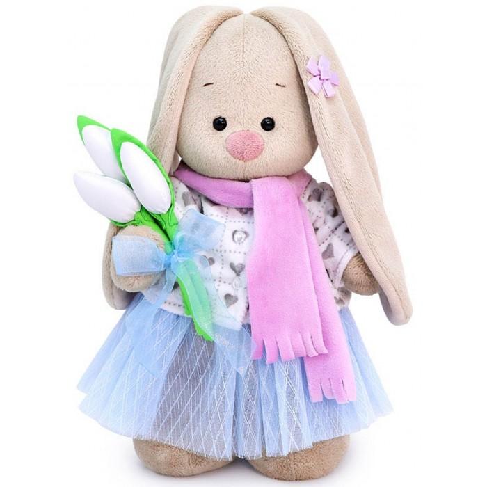 Купить Мягкие игрушки, Мягкая игрушка Budi Basa Зайка Ми с белыми тюльпанами 32 см