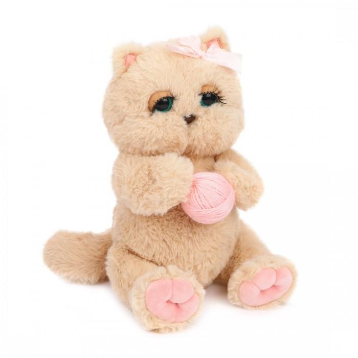 Купить Мягкие игрушки, Мягкая игрушка Angel Collection Киска Персик с клубком