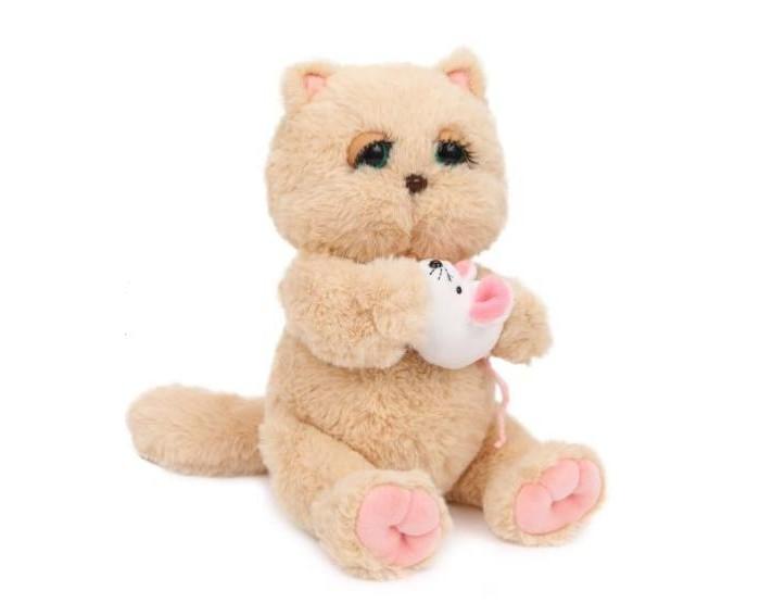 Купить Мягкие игрушки, Мягкая игрушка Angel Collection Киска Персик с мышкой