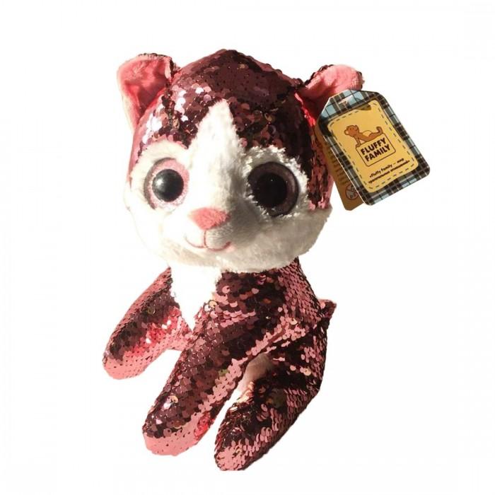 Купить Мягкие игрушки, Мягкая игрушка Fluffy Family Котенок Блестяшка 23 см
