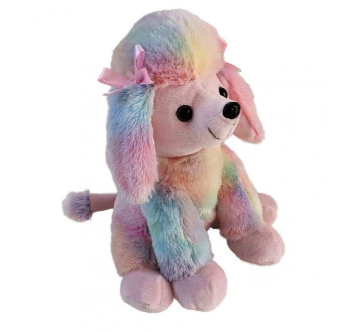 Мягкие игрушки Fluffy Family Пудель Радуга 20 см