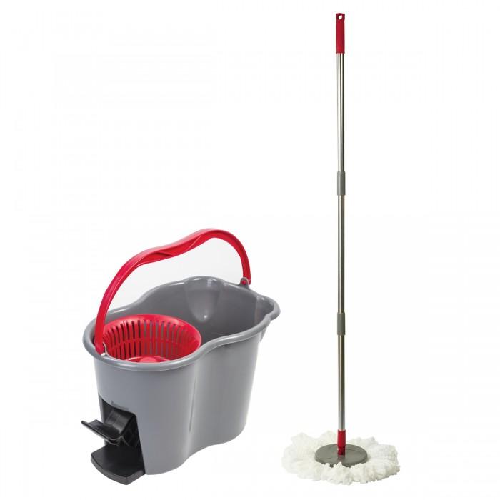 Хозяйственные товары Лайма Набор для уборки ведро с отжимом и педалью 14 л 603622 недорого