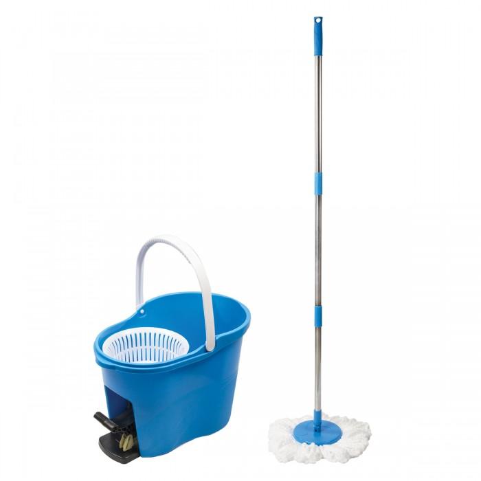 Хозяйственные товары Лайма Набор для уборки ведро с отжимом и педалью 14 л 603623 ведро для поломоя apex с отжимом цвет желтый 15 л