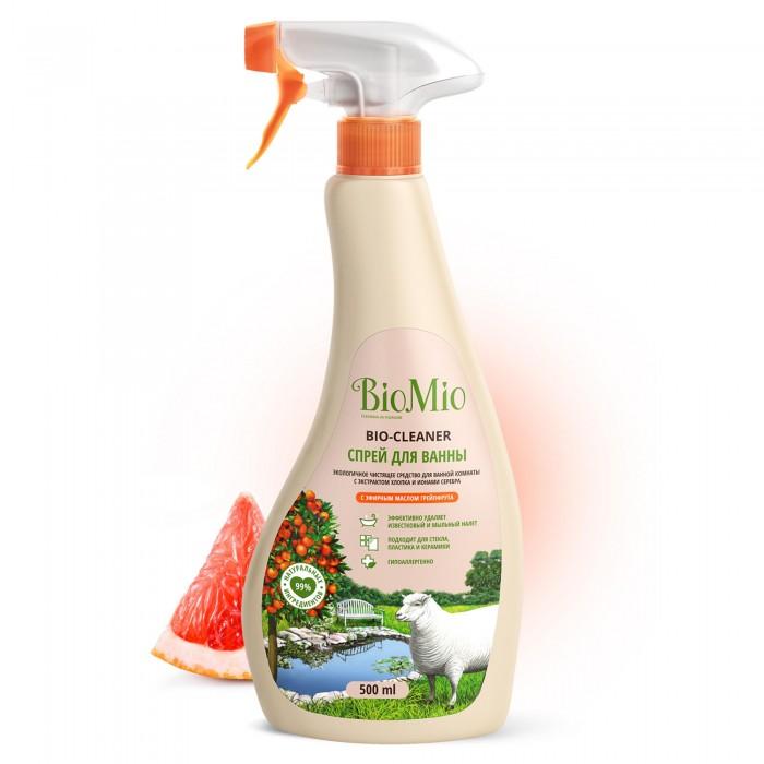 Бытовая химия BioMio Антибактериальное чистящее эко средство для ванной комнаты BIO-BATHROOM CLEANER с эфирным маслом Грейпфрута, 500 мл