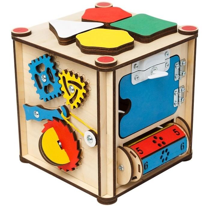 Картинка для Деревянная игрушка Нумикон Игры Монтессори Бизи-куб со светом