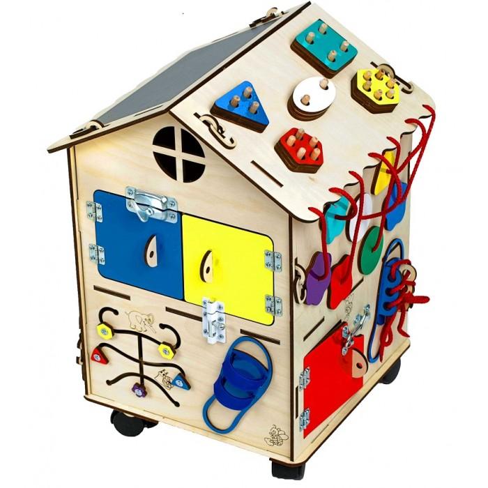 Деревянные игрушки Нумикон Игры Монтессори Бизи-дом со светом