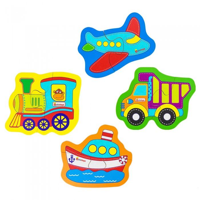Фото - Деревянные игрушки Alatoys Набор пазлов Транспорт денисова дарья транспорт развивающая книга